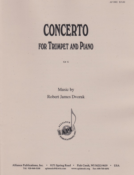 Concerto for C Trumpet and Piano