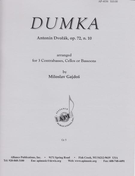 Dumka, Op. 72, No.10
