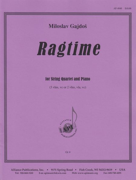 Ragtime for String Quartet