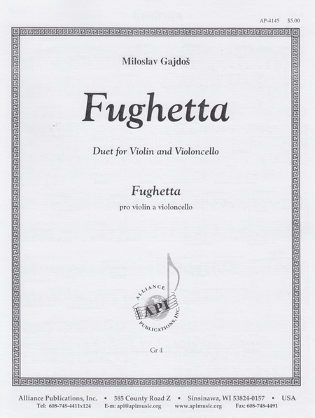 Fughetta for Violin and Cello Duet