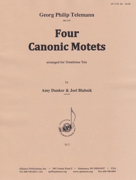 Four Canonic Motets for Trombone Trio