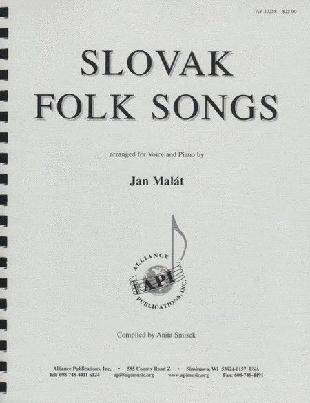 Slovak Folksongs Arranged for Voice and Piano
