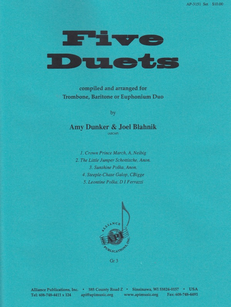 Five Duets for Trombone, Baritone or Euphonium Duo