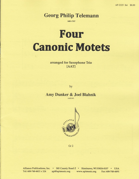 Four Canonic Motets