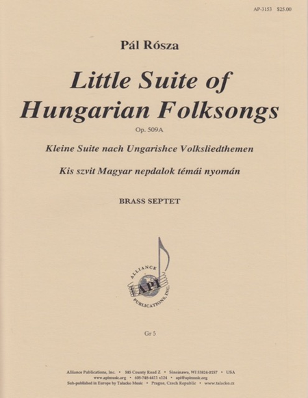 Little Suite of Hungarian Folksongs
