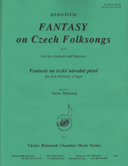 Fantasy on Czech Folk Songs for 2 Clarinets and Bassoon