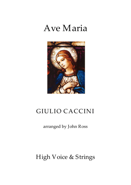 Ave Maria (High Voice, Strings)