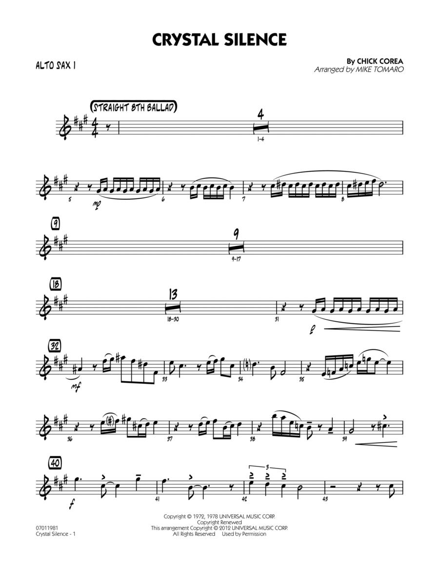 Crystal Silence - Alto Sax 1