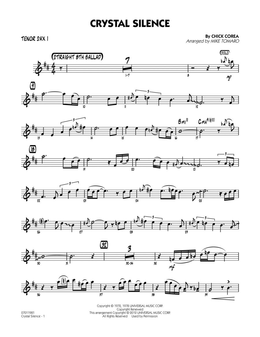 Crystal Silence - Tenor Sax 1