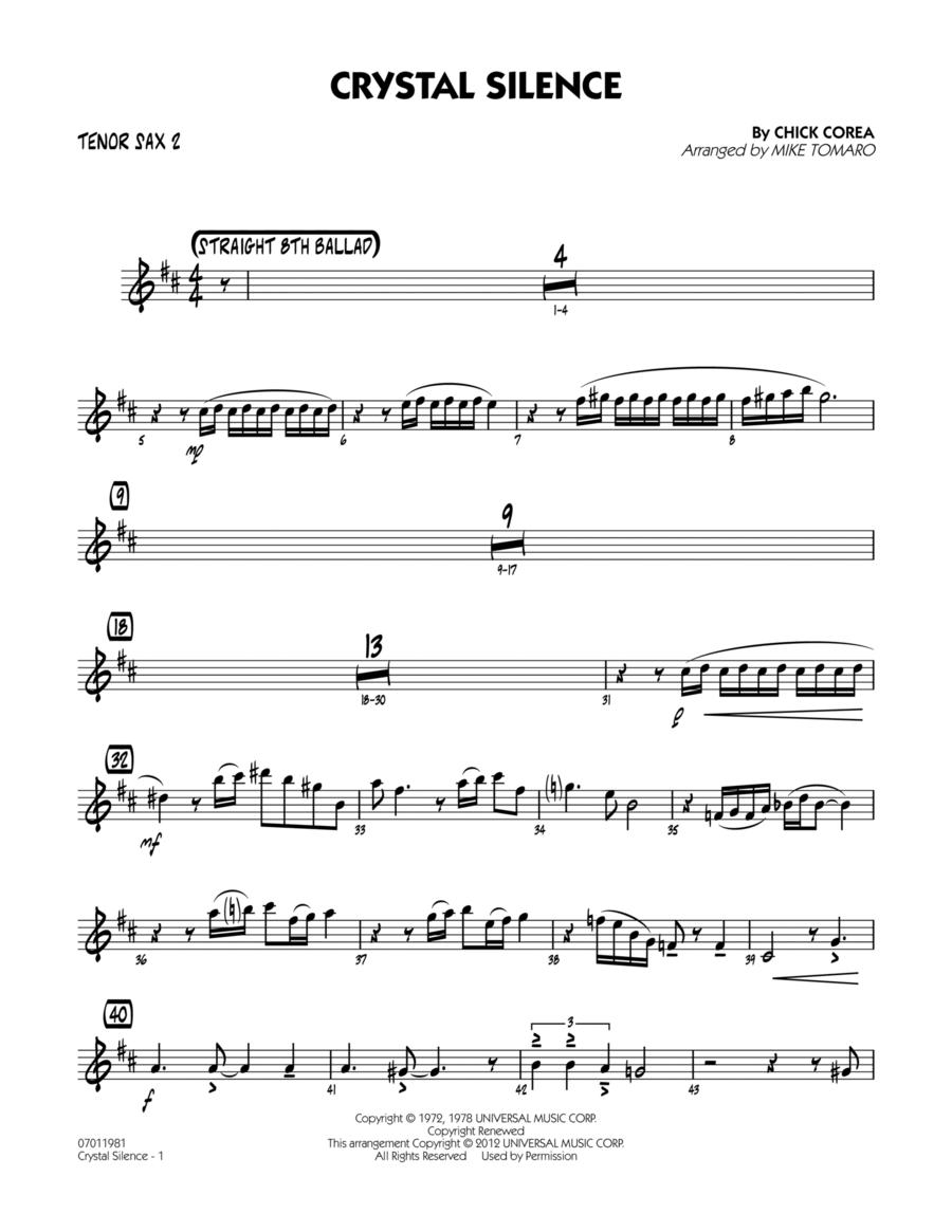 Crystal Silence - Tenor Sax 2