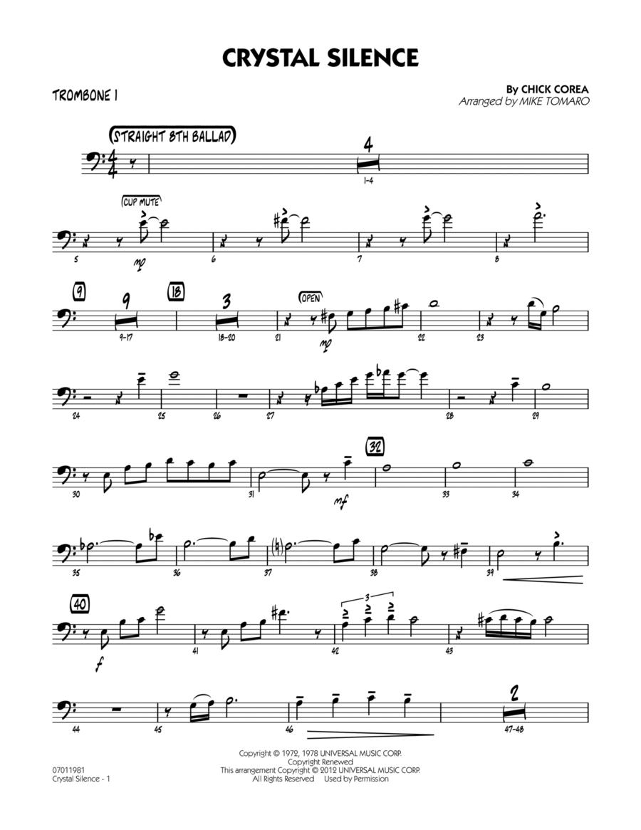 Crystal Silence - Trombone 1