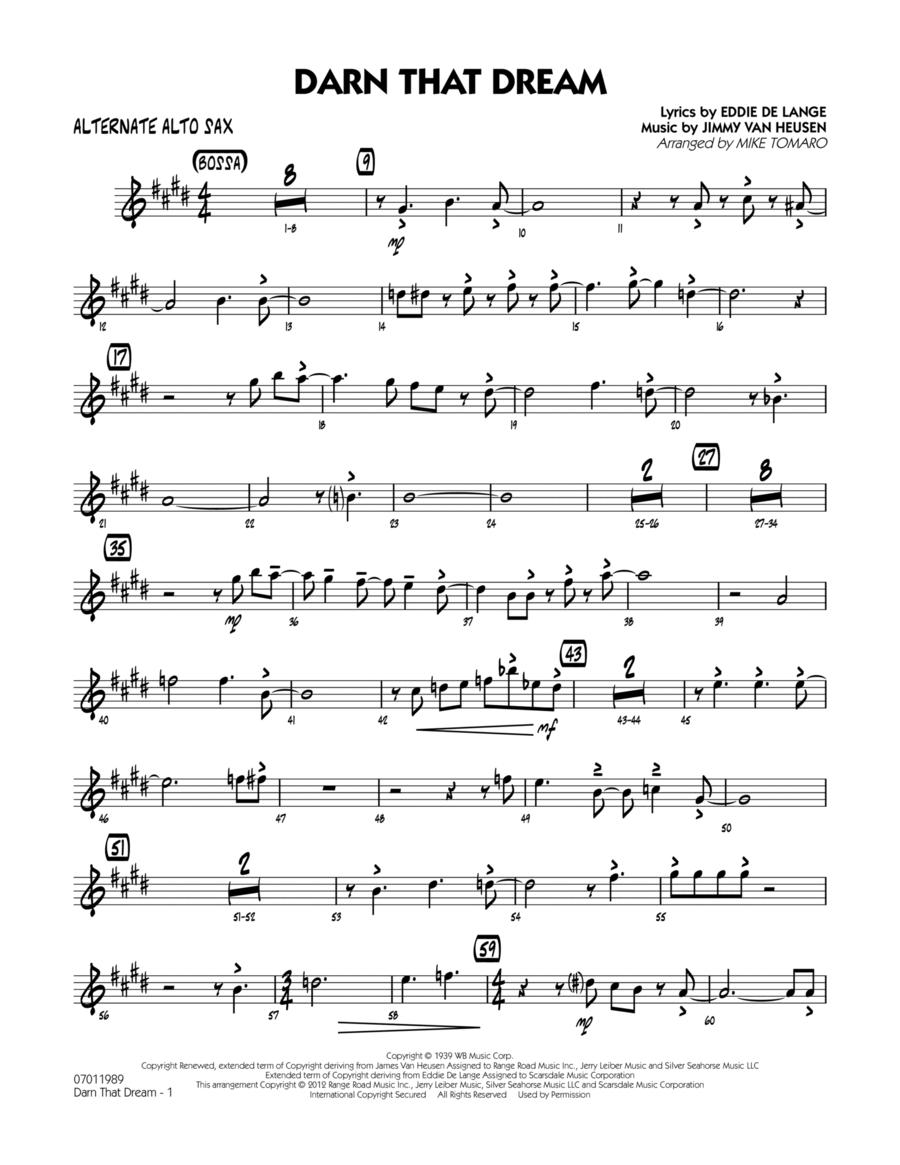 Darn That Dream - Alternate Alto Sax