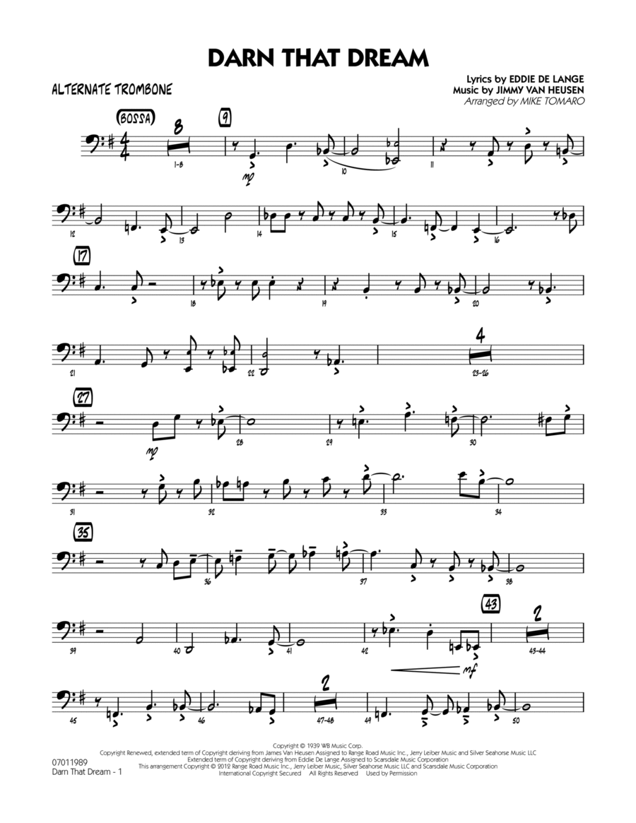 Darn That Dream - Alternate Trombone