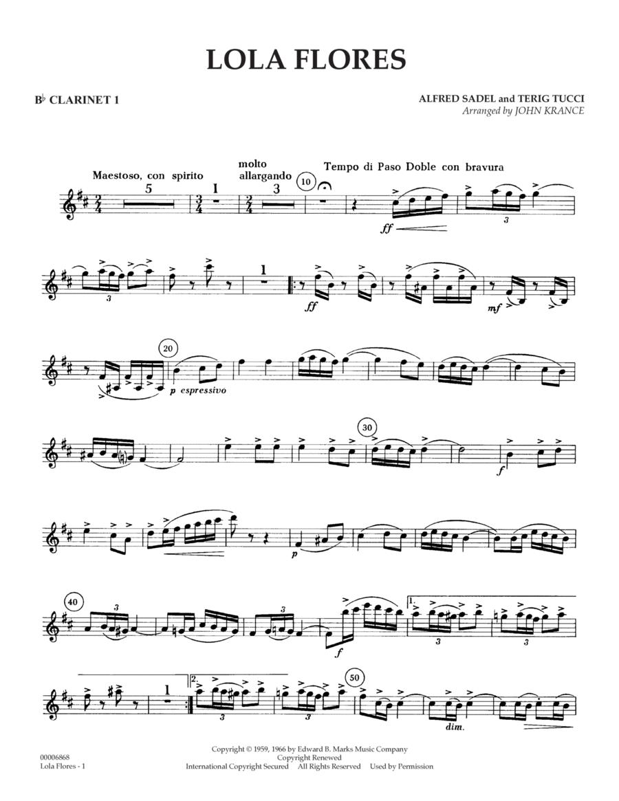 Lola Flores - Bb Clarinet 1