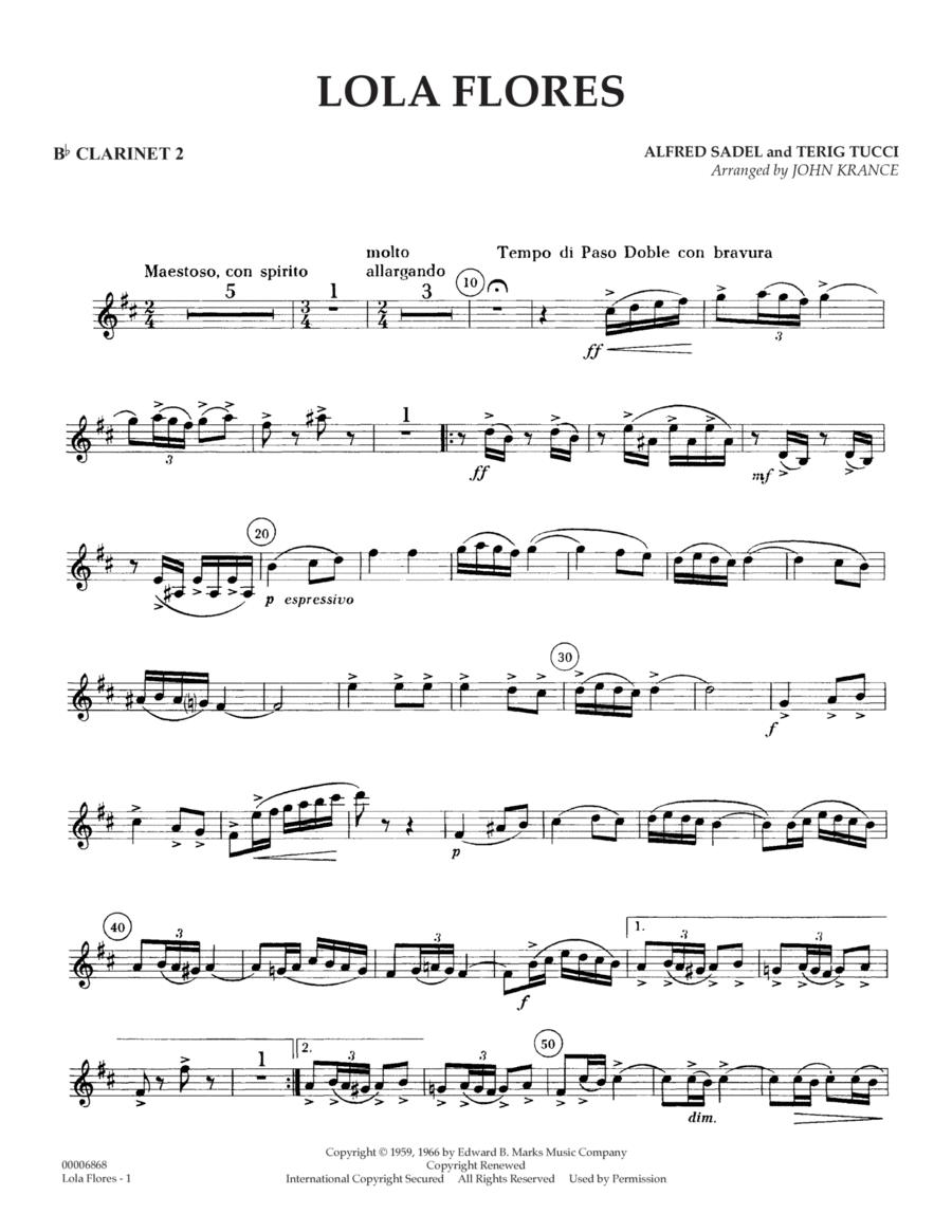 Lola Flores - Bb Clarinet 2