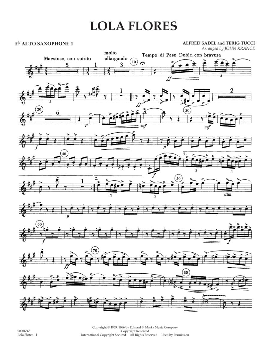 Lola Flores - Eb Alto Saxophone 1