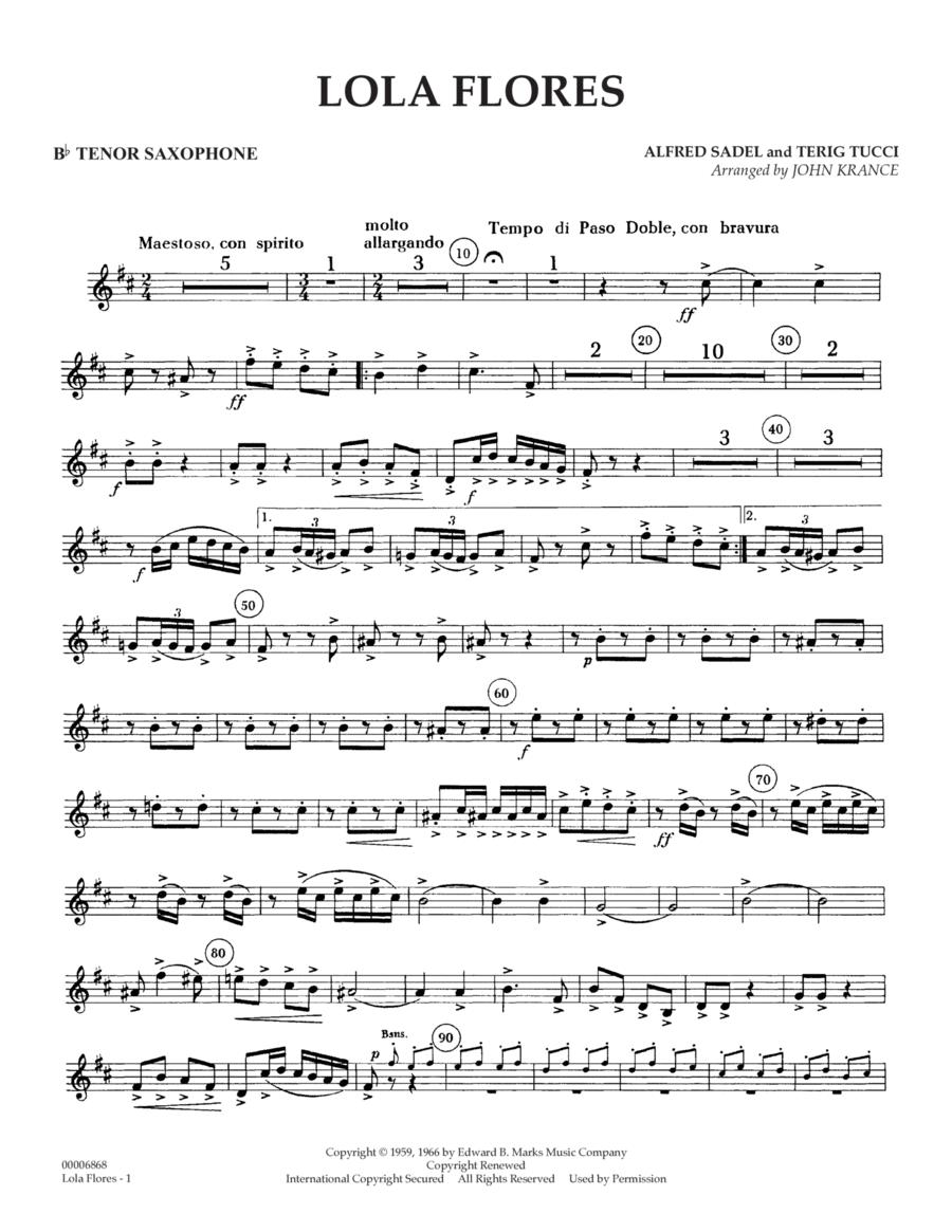 Lola Flores - Bb Tenor Saxophone