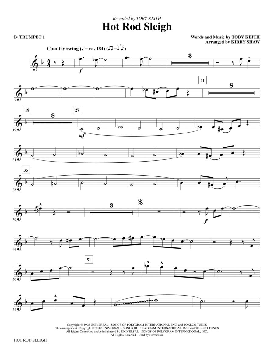 Hot Rod Sleigh - Bb Trumpet 1