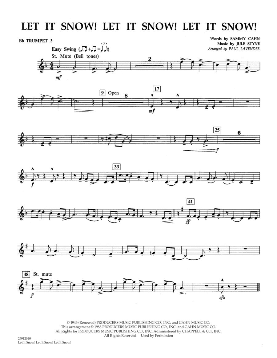 Let It Snow! Let It Snow! Let It Snow! - Bb Trumpet 3