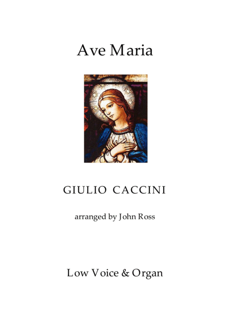 Ave Maria (Low voice, Organ)