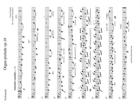 Organ prelude op.18