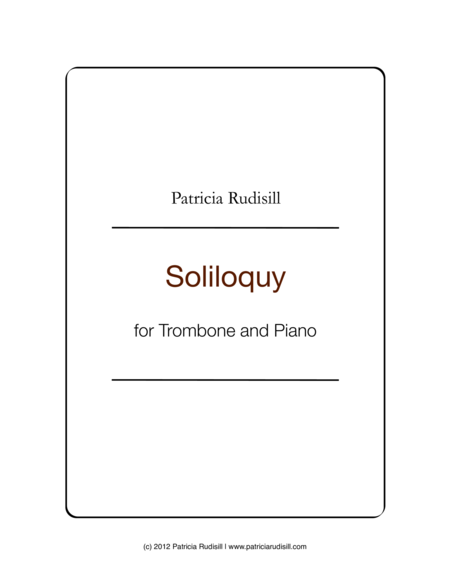 Soliloquy, for tenor trombone and piano
