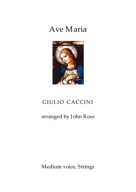 Ave Maria (Medium voice, Strings)