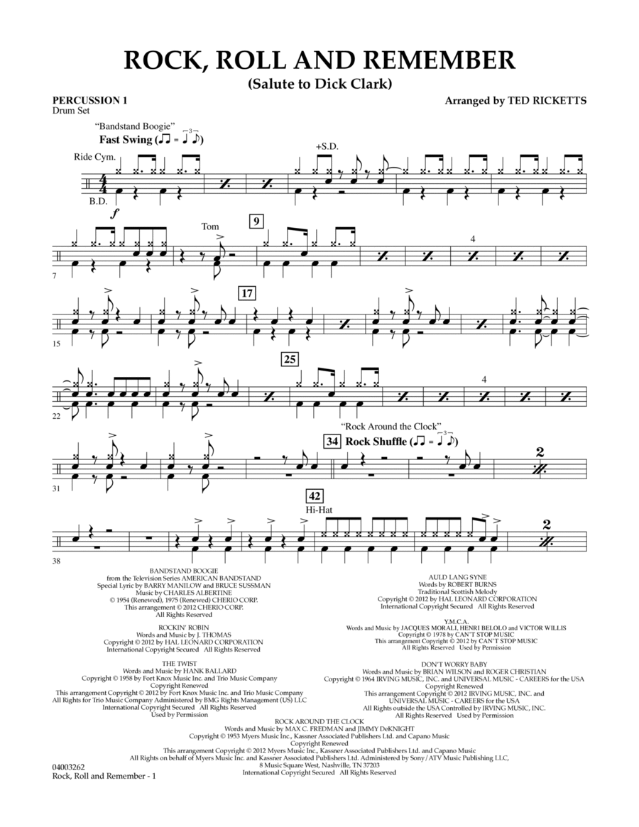 Rock, Roll And Remember (Salute To Dick Clark) - Percussion 1
