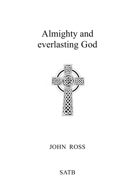 Almighty and Everlasting God
