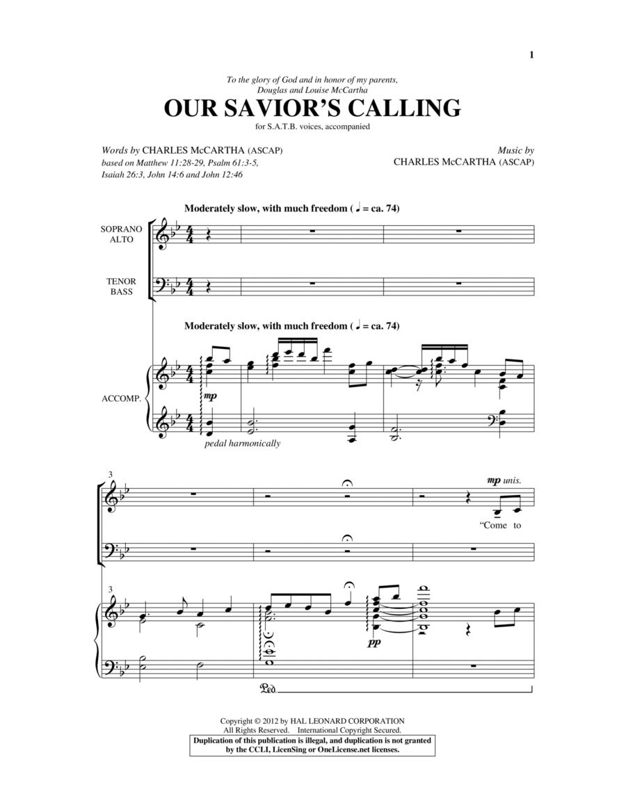 Our Savior's Calling