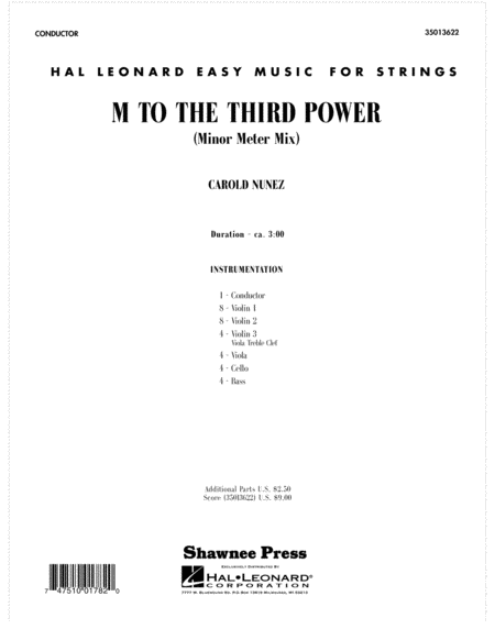 M To The Third Power (Minor Meter Mix) - Score