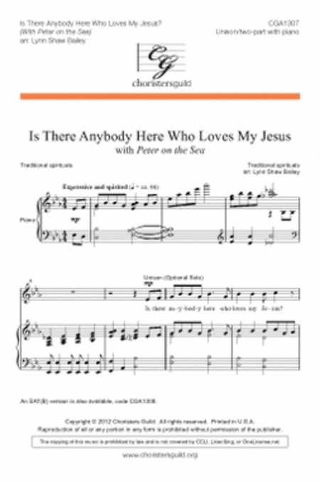 Is There Anybody Here Who Loves My Jesus?