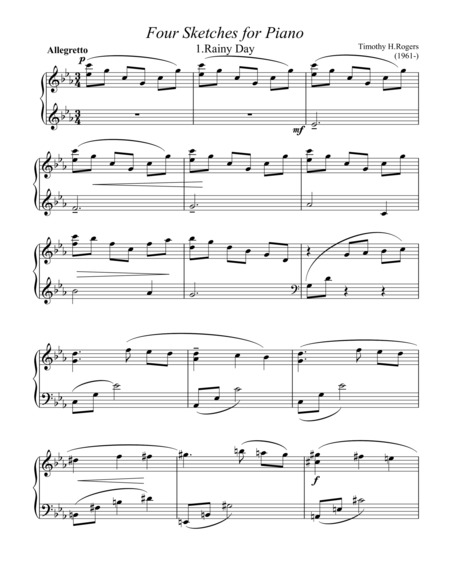 Four Sketches for Piano