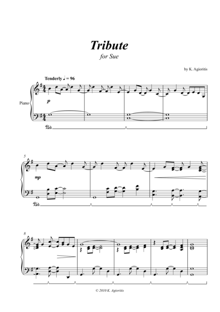Tribute - for Solo Piano