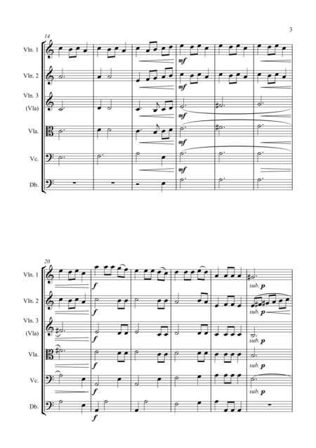 Fantasia on the Ukrainian Bell Carol - for String Orchestra - Score