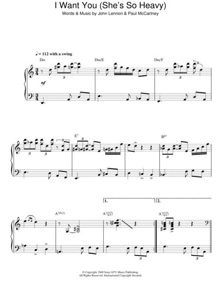 I Want You (She's So Heavy) (Jazz Version)