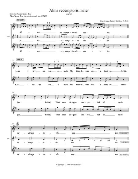 Alma redemptoris mater - Als I lay