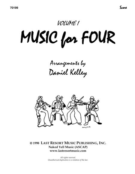 Music for Four, Volume 1 Score