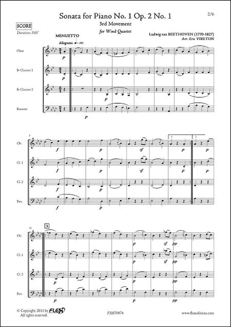 Sonata for Piano No. 1 Opus 2 No. 1 - 3rd movement