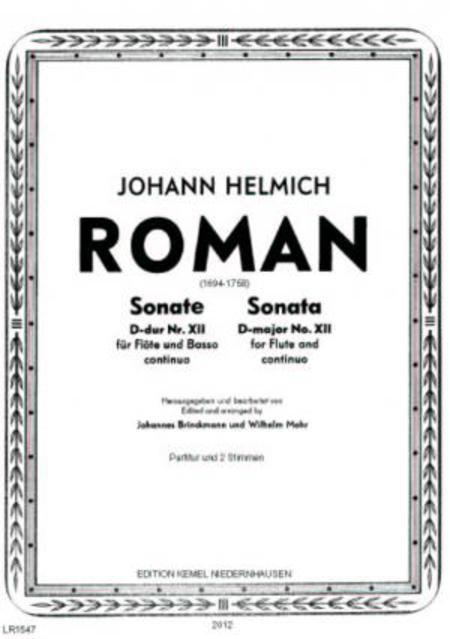 Sonate D-dur Nr. XII : fur Flote und Basso continuo
