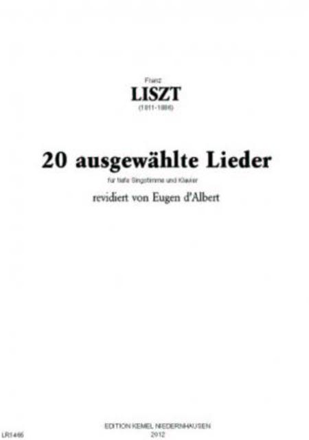 Zwanzig ausgewahlte Lieder : fur tiefe Singstimme und Klavier