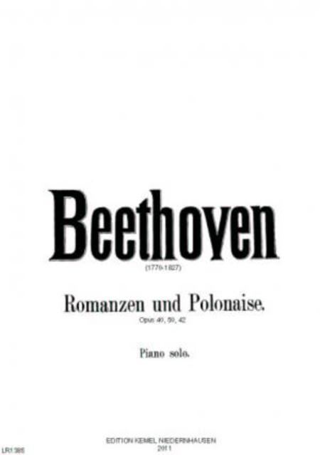 Romanzen und Polonaise : fur Piano solo