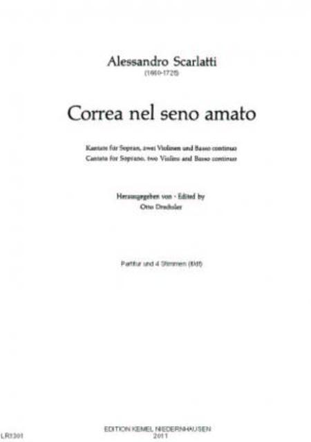 Correa nel seno amato : Kantate fur Sopran, zwei Violinen und Basso continuo
