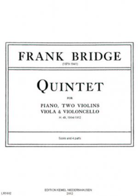 Quintet : for piano, two violins, viola and violoncello, H. 49, 1904-1912