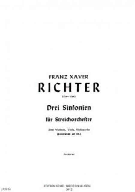Drei Sinfonien : fur Streichorchester