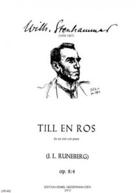 Till en ros [F-dur] : for en rost och piano, op. 8:4