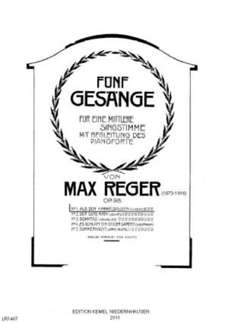 Funf Gesange : fur eine mittlere Singstimme mit Begleitung des Pianoforte, op. 98 : no. 1, Aus den Himmelsaugen