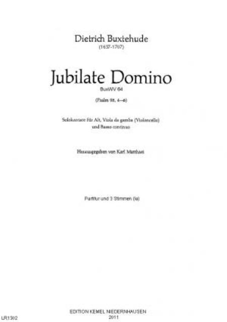 Jubilate Domino : Solokantate fur Alt, Viola da gamba (Violoncello) und Basso continuo, BuxWV 64