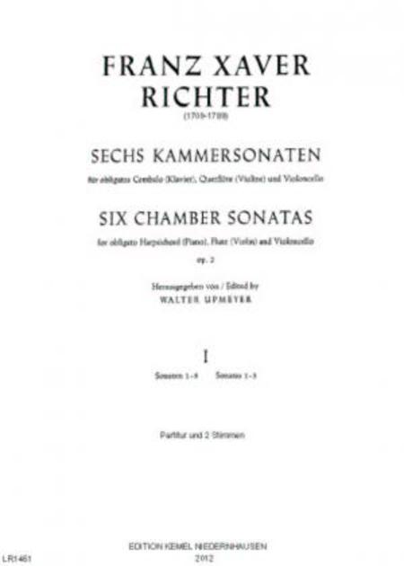 Sechs Kammersonaten : fur obligates Cembalo (Klavier), Querflote (Violine) und Violoncello, op. 2 : I, Sonate 1-3