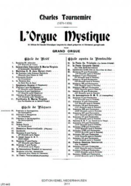 L'orgue mystique : 51 offices de l'annee liturgique inspires du chant gregorien et librement paraphrases pour grand orgue, op. 56 : 12, Dominica in septuagesima